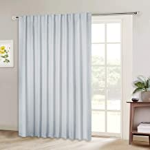 NICETOWN Patio Door Curtain Vertical Blinds, Reduce Sunlight Rod Pocket & Back Tab Room Divider Curtain Panel for Furniture Protecting (Greyish White, 80 inches Wide x 84 inches Long, 1 PC)