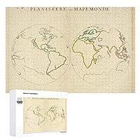 INOV 世界地図 輪郭 ジグソーパズル 木製パズル 1000ピース インテリア 集中力 75cm*50cm 楽しい ギフト プレゼント