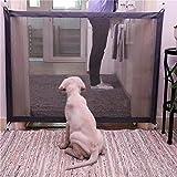 per Puerta de Barrera de Seguridad para Perros Puerta Plegable Portátil Interior para Mascotas Puerta de Red Magic Gate