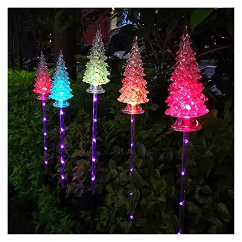 YANGYUAN Luces de jardín Solar Forma de árbol de Navidad Cambio de Multicolor Luces de jardín con energía Solar para Patio, césped, jardín, decoración del Patio (1 Paquete 3 árboles)