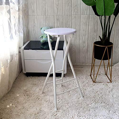 LIUM Taburete plegable de bar, sillas plegables para adultos, taburete redondo plegable, altura de mostrador, simple y portátil, fácil de almacenar, para fiestas y reuniones familiares