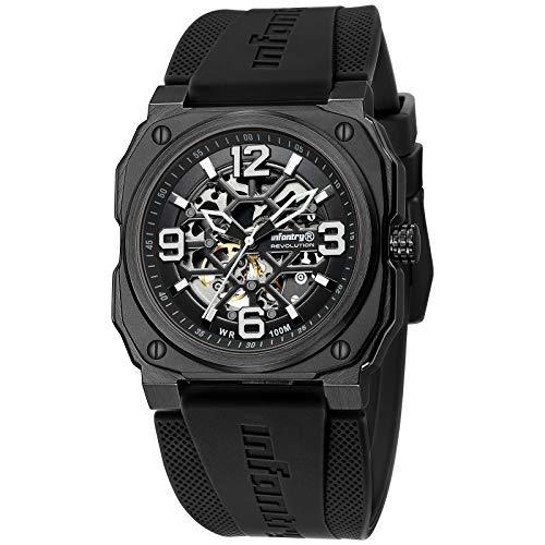Automatik Uhr Herren Schwarz Mechanische Armbanduhr Männer Uhren Wasserdicht 10 ATM Militär Outdoor Sportuhr Armbanduhren by Infantry