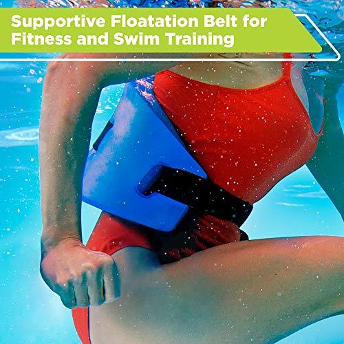 New & Improved AQUA 6 Piece Fitness Set for Water Aerobics, Pool Exercise Equipment, Aquatic Swim Belt, Resistance Gloves, Barbells, Model:AF4730 3