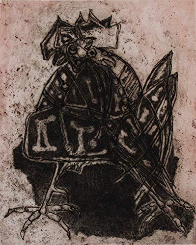 Luciano Minguzzi, Gallo, 1983, Aguafuerte aguatinta firmada y numerada