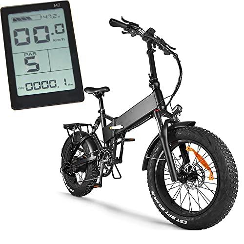 JMCVILOF 1000W 48V 14.5Ah Elektro-Mountainbike, Elektrofahrrad Max 45Km/H, 4.0 Fat Tire, Elektrofahrrad Beach Ebike, Mit Vorder- Und RüCklicht