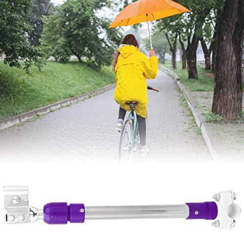 DAUERHAFT Durable 33,3-50 cm de Longitud Extensible para Bicicleta eléctrica Soporte para Paraguas Soporte para Cochecito Soporte para Paraguas Ajustable, para Bicicleta eléctrica,(Purple)