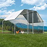 Stark Walk-in Chicken Coops Hen Run House Cage with Waterproof & Anti-Ultraviolet Roof Cover for Outdoor Backyard Farm Poultry (6' L x 9' W x 6' H)