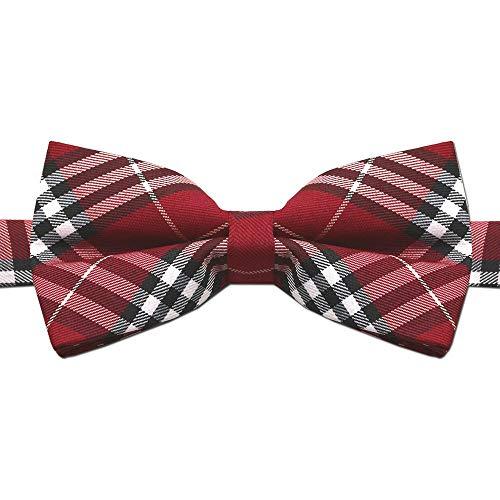 1 Fliege Schleife Verstellbar Kariert Karo Muster Gebunden Herren Anzug Hemd Hochzeit Business Krawatte Schlips Rot Grün, Variante:Modell 37