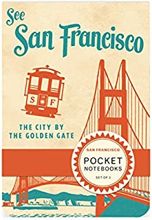 Cavallini Papers & Co. Pocket Notebook Set San Francisco, 2.75-Inch by 4-Inch,Contains 2 Pocket-Sized Notebooks