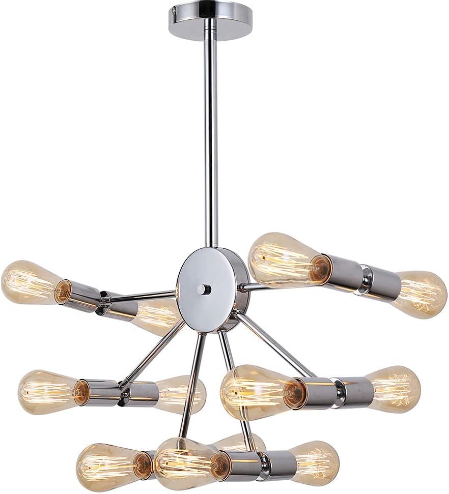 12-Light Sputnik 25% OFF Chandelier Modern Fixt online shop Chrome Lighting