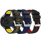 Supore Forerunner 235 Correa Reemplazo Suave Silicona Watch Band Deportiva Accessorios de Reloj Pulsera Ajustable con Cierre de Clip para Garmin Forerunner 235/220 / 230/620 / 630/735 Smart Watch