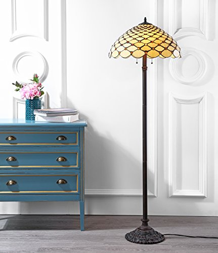 """Lee Style 62"""" LED Floor Lamp, Tiffany, Traditional for Bedroom, Living Room, Bronze"""
