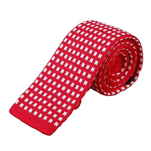 YYB-Tie Mode binden Arbeiten Sie Flache schmale Pullover Krawatte Fashion Business-Anzug Stricken Krawatte (Color : 07, Size : 145cm*5cm*4cm)