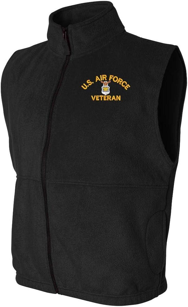 U.S. Air Force Emblem Veteran Sierra Pacific Full-Zip Fleece Vest