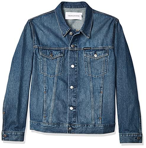 Calvin Klein Men's Denim Trucker Jacket, Pride Blue, X-Large