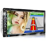 XOMAX XM-2DN6906 Autoradio con Mirrorlink I Navigatore GPS I Bluetooth I Schermo Touch Screen 6.9' / 17,7 cm I RDS I DVD, CD, USB, SD, AUX I 2 DIN