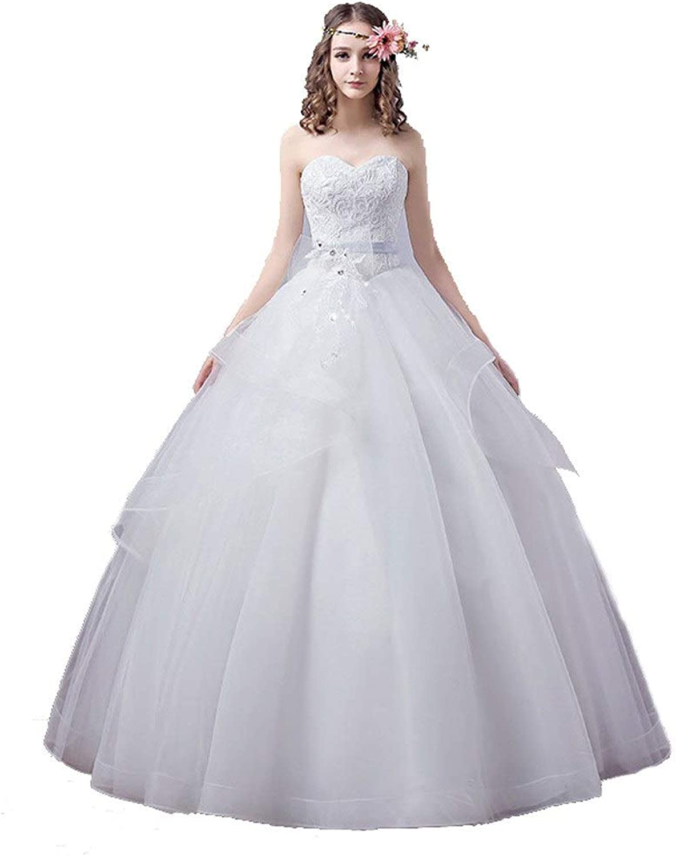 Bridal Dress 2019 Elegant Luxury Lace Sweetheart Corset Wedding Dress Vintage Plus Size Ball Gowns Vestido De Noiva (Size   XL)