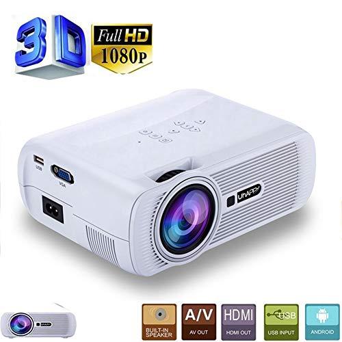 Genmaisima Mini-LED-Film-Videoprojektor, tragbarer Full HD-Projektor 1080P mit 170