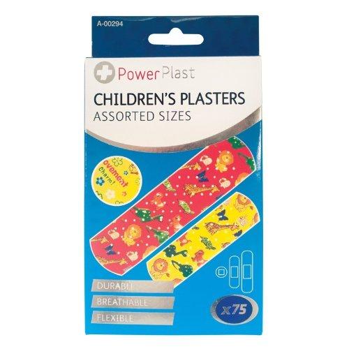 Guilty Gadgets - 75 cerotti fantasia per bambini, sterili, traspiranti, impermeabili e lavabili