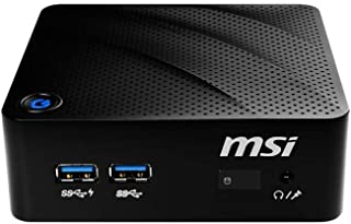 MSI Cubi N 8GL-047ES - Ordenador de sobremesa de (Intel Gemini Lake Celeron N4000, 8 GB RAM, 128 GB SSD, Intel HD Graphics 605, Windows 10 Home) Negro