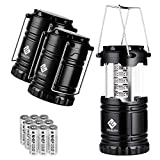 Etekcity LED Camping Lantern Portable Flashlight with AA Batteries - Survival Kit for Emergency,...