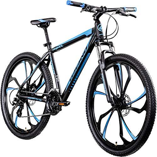 Galano 650B MTB Hardtail Mountainbike 27,5 Zoll Primal Fahrrad Mountain Bike (schwarz/blau, 48 cm)