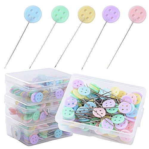 400 Stück Head Pins Stecknadeln Kopf Pins Schneidern Pins Nadeln Pins mit Kopf für Basteln Nähen Säumen Craft
