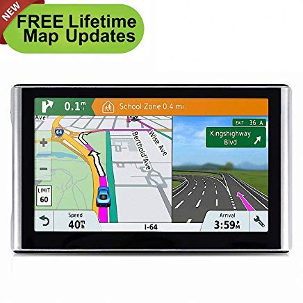Lowest Prices! GPS Navigation for Car, 7 Inch Car GPS Updated LCD Touch Screen GPS Navigation System, Multi-Media Car Vehicle Electronics Lifetime Free Maps