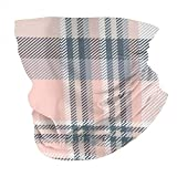 Lfff Bufanda mágica Multifuncional a la Moda, Rosa, Gris, Blanco, a Cuadros, para la Cabeza, Bandana, Tubo Deportivo, Cubierta Facial UV