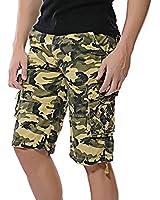 DDONGD Mens Cargo Shorts Multi Pocket Outdoor Twill Camouflage Cargo Short
