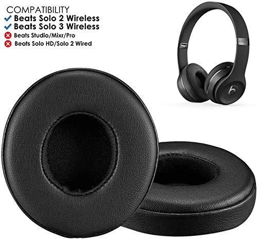 Beats Solo 3 Earpad Replacement, Bingle Professional Beats Replacement Ear Pads, Memory Foam Ear Cushion for Beats Solo 2 & Solo 3 Wireless On Ear Headphones, Black