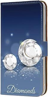 スマホケース 手帳型 カードタイプ Galaxy S6 edge SC-04G・SCV31・404SC 対応 [ジュエリー・ブルー] ダイヤ グラデーション SAMSUNG サムスン ギャラクシー エスシックス エッジ docomo au so...