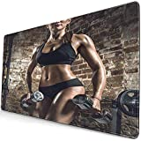 Gaming Extended Mouse Pads mit Rutschfester Gummibasis Athlet Young Fitness Woman Führen Sie Übung...