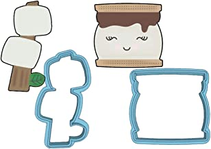 S'more Cookie Cutter Set - American Confections - Smore, Marshmallow, Camping - MADE IN THE USA