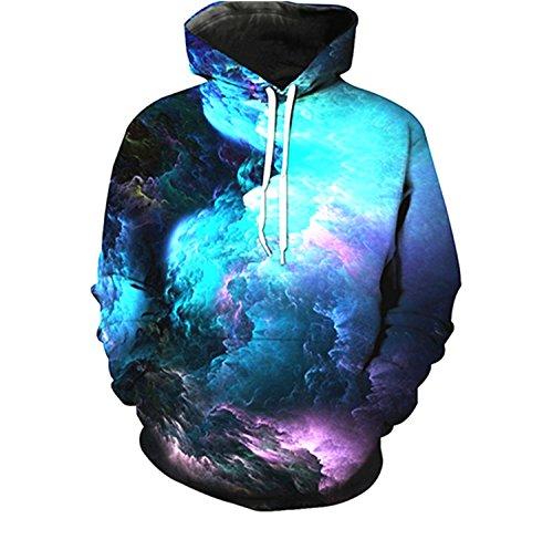 youvimi Unisex 3D Printed Drawstring Pockets Pullover Hoodie Hooded Sweatshirt (Black02, XXL/XXXL)