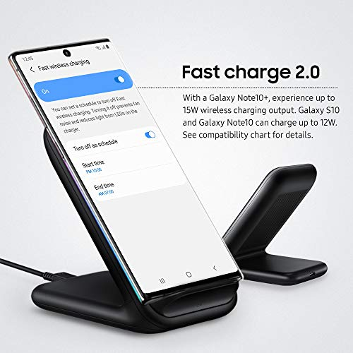 Rvntop 15W Fast Charge 2.0 Wireless Charger Stand 15W Negro Cargador de Dispositivo móvil