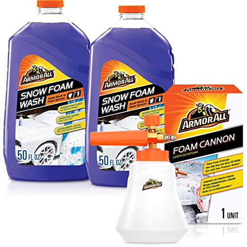 Armor All Foam Cannon Kit (3 Items) - pH Balanced Foaming Car Wash and Non-Slip Grip Foam Sprayer Kit, Safe for Wax and Sealant Coatings