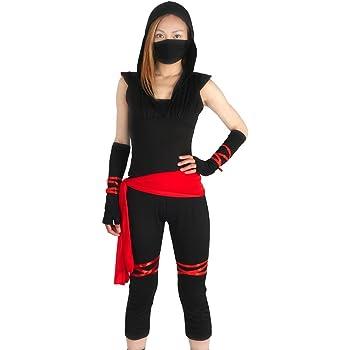 CoolChange Disfraz Ninja para Mujeres, L: Amazon.es: Juguetes y juegos
