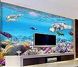 Papel Pintado Pared 3D Fotomurales Acuario De Peces Tropicales Mundo Submarino Murales 3D Papel Tapiz Decorativos Wallpaper,150cmX105cm