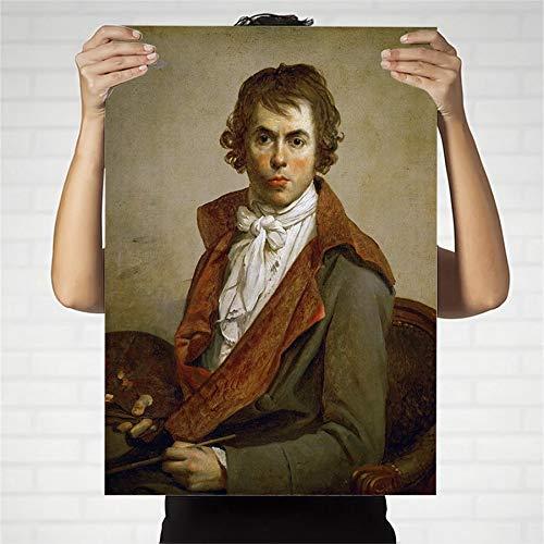 (70x95cm) Geen Frame Abstracte filmposter olieverfschilderij Frans Jacques-Loui David Woonkamer woonkamer decoratie ouders kamer