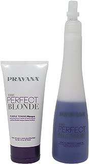 Bundle-2 Items : PRAVANA THE PERFECT BLONDE Purple Toning Masque, 5 Oz & PRAVANA THE PERFECT BLONDE Seal & Protect Leave-in, 10.1 Oz