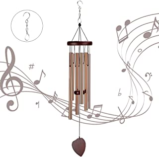 ZOUTOG Wind Chimes Outdoor, 29'' Handmade Wooden Chimes with 6 Metal Hollow..