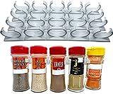Especiero Organizador Especias Pared para Hierbas y Especias - Especieros para Cocina para Armarios - 16 Unidades Divisibles Universales con Adhesivo.