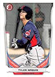 Tyler Naquin baseball card (Cleveland Indians OF) 2014 Topps Bowman #TP88 Rookie. rookie card picture