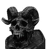 yabeme punk hip hop devil goat head anello acciaio inossidabile vintage cool gothic biker ariete ram zodiac gioielli da uomo nero (taglia 8-14),11
