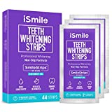 iSmile Teeth Whitening Strips Kit - Coconut and Mint Oil, 44 Strips, 22 Treatments, for Sensitive Teeth, Non-Slip, Professional, Express, Teeth Whitening System (Coconut Flavor)