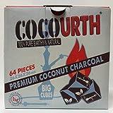 Best COCO Hookah Coals - Hookah Natural Coconut Charcoal 64 Pieces Big Cubes Review