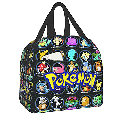 Poke-Mon Lunch Bag Custom Insulated Lunch Box For Schools And Outdoors Lunch Boxes Suitable For Adults Children