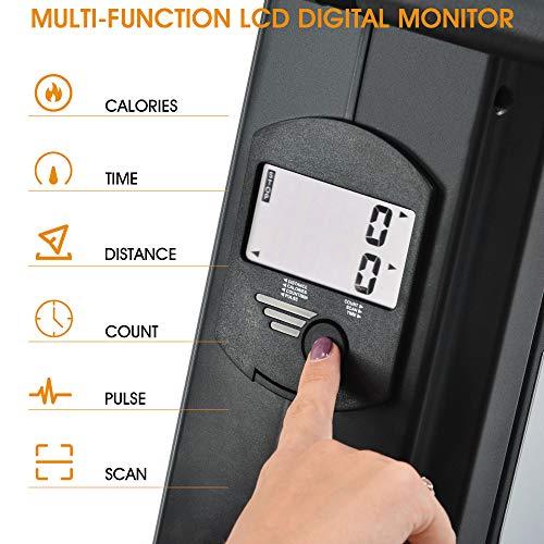 Merax magnetisches Rudergerät mit 8 einstellbaren Stufen, LCD-Monitor, 150 kg Maximalgewicht, Cardio-Fitnessgerät für den Heimgebrauch, faltbar - 7