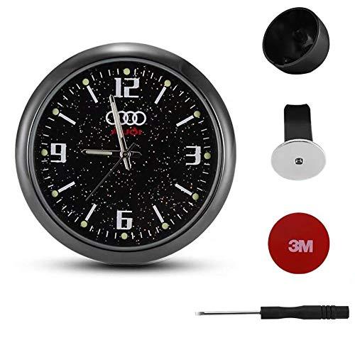 Mini reloj de coche para salpicadero de coche, reloj de coche, reloj de reajuste interior, luminoso, electrónico, reloj de cuarzo, adornos, con clip de ventilación, reajuste interior